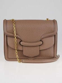 Alexander McQueen Lavender Embossed Leather Heroine Shoulder Bag