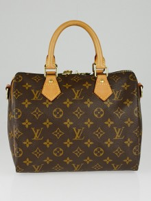 Louis Vuitton Monogram Canvas Speedy Bandouliere 25 Bag w/o strap