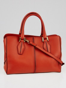 Tod's Orange Leather Small Bauletto Bag