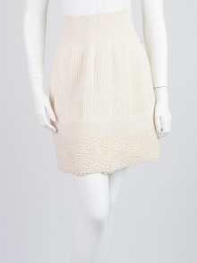 Chanel Ivory Cashmere Skirt Size 4/38