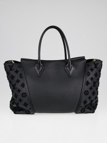 Louis Vuitton Black Orfevre and Veau Cachemire Calfskin Leather W PM Bag