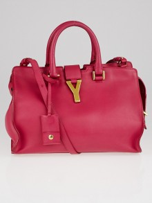 Yves Saint Laurent Pink Leather Small Cabas ChYc Bag
