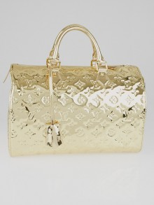 Louis Vuitton Limited Edition Gold Monogram Miroir Speedy 30 Bag