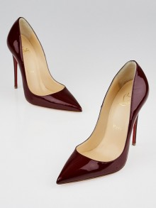 Christian Louboutin Burgundy Patent Leather So Kate 120 Pumps Size 4.5/35