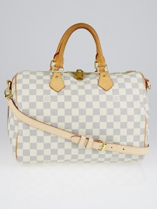 Louis Vuitton Damier Azur Canvas Speedy 30 Bandouliere Bag