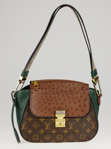 Louis Vuitton Limited Edition Green Exotique Monogram Majestueux Shoulder Bag