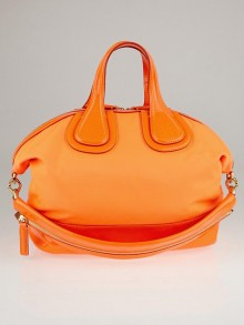 Givenchy Neon Orange Nylon Large Nightingale Bag