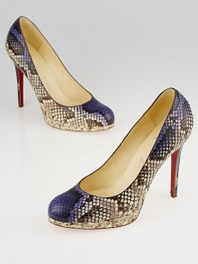 Christian Louboutin Purple Python New Simple 120 Pumps Size 8.5/39