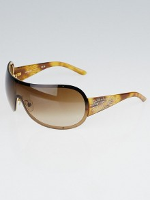 Chanel Tortoise Shell and Crystal CC Shield Sunglasses-4148-B