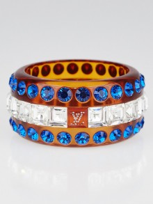 Louis Vuitton Orange Resin and Crystals Bangle Bracelet