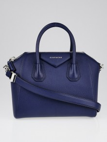 Givenchy Deep Blue Sugar Goatskin Leather Small Antigona Bag