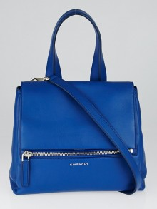Givenchy Blue Pebbled Leather Pandora Pure Small Bag