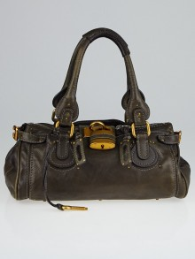 Chloe Dark Brown Leather Medium Paddington Satchel Bag