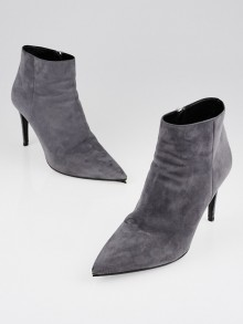 Prada Nebbia Suede Pointed Toe Ankle Boots Size 9/39.5