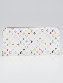 Louis Vuitton White Monogram Multicolore Lichi Insolite Wallet