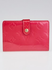 Louis Vuitton Fuchsia Monogram Vernis Port Feuille Vienoise French Purse