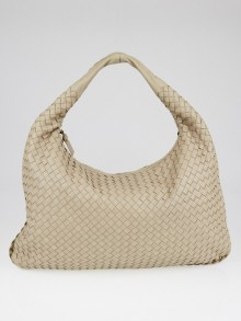 Bottega Veneta Sand Intrecciato Woven Nappa Leather Large Veneta Hobo Bag