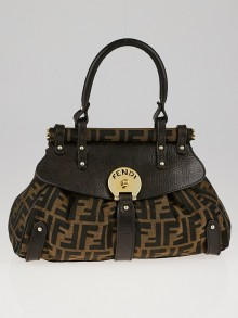 Fendi Tobacco Zucca Print Canvas Small Magic Bag
