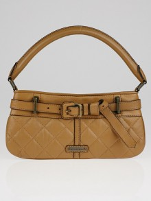 Burberry Brown Quilted Leather Enmore Sling Bag