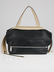 Chloe Black/Rope Beige Deerskin Leather Dalston Shoulder Bag