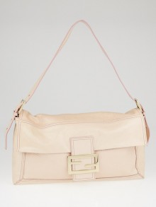 Fendi Light Pink Patent Leather Large Oversized Convertible Baguette Bag 8BT137