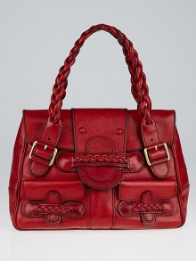 Valentino Garavani Red Leather Histoire Bag