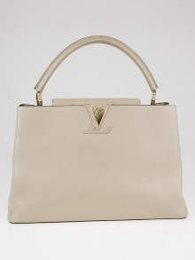 Louis Vuitton Galet Taurillon Leather Capucines GM Bag