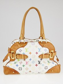 Louis Vuitton White Monogram Multicolore Claudia Bag