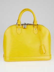 Louis Vuitton Citron Epi Leather Alma PM Bag