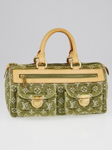 Louis Vuitton Green Denim Monogram Denim Neo Speedy Bag