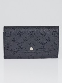 Louis Vuitton Noir Monogram Mahina Leather Iris Wallet