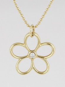Tiffany & Co. 18k Gold and Diamond Garden Flower Pendant