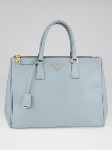 Prada Lago Saffiano Lux Leather Double Zip Large Tote Bag BN1786