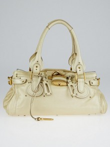 Chloe Pearl Leather Medium Paddington Satchel Bag
