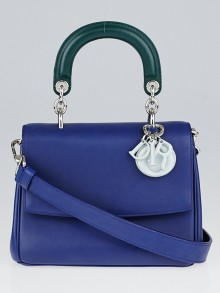 Christian Dior Blue Tri-Color Leather Be Dior Mini Flap Bag