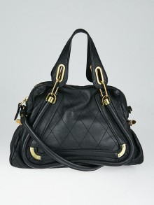 Chloe Black Quilted Leather Medium Paraty Bag