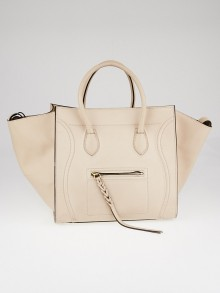 Celine Powder Smooth Calfskin Leather Medium Phantom Luggage Tote Bag