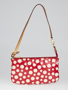 Louis Vuitton Limited Edition Yayoi Kusama Red Monogram Vernis Dots Infinity Accessories Pochette Bag