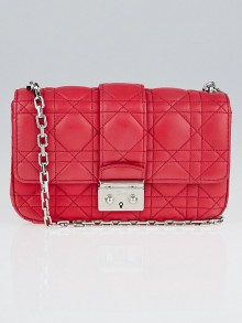Christian Dior Fuchsia Cannage Quilted Lambskin Leather Small Miss Dior Bag