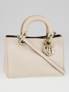 Christian Dior Light Pink Pebbled Calfskin Diorissimo Mini Bag