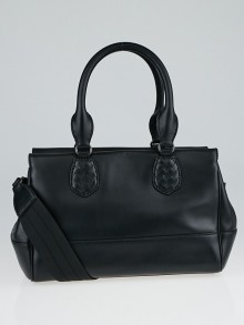 Bottega Veneta Black New Calf Leather Ducale Double Handle Bag