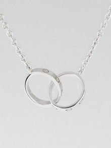 Cartier 18k White Gold LOVE Necklace