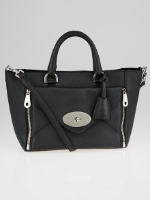 Mulberry Black Calfskin Leather Small Willow Tote Bag