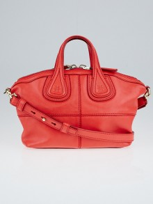 Givenchy Red Lambskin Leather Micro Nightingale Bag