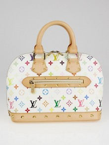 Louis Vuitton White Monogram Multicolor Alma Bag