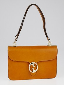 Gucci Light Brown Leather 1973 Medium Top Handle Bag