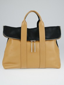 3.1 Phillip Lim Nude/Black Leather 31 Hour Bag