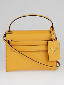 Valentino Orange Leather My Rockstud Tote Bag