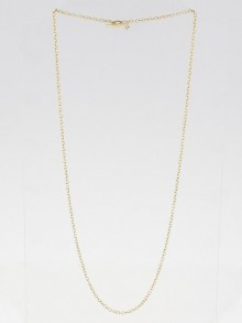 "David Yurman 18k Yellow Gold Rollo 32"" Chain Necklace"