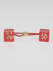 Louis Vuitton Red Resin Monogram Inclusion Hair Cube